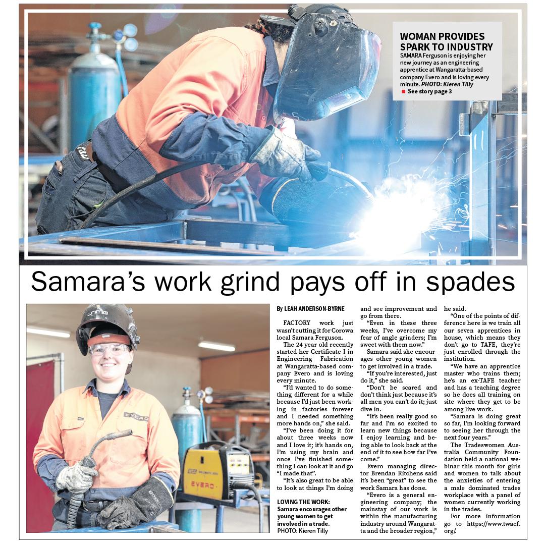 Samara's work grind pays off in spades